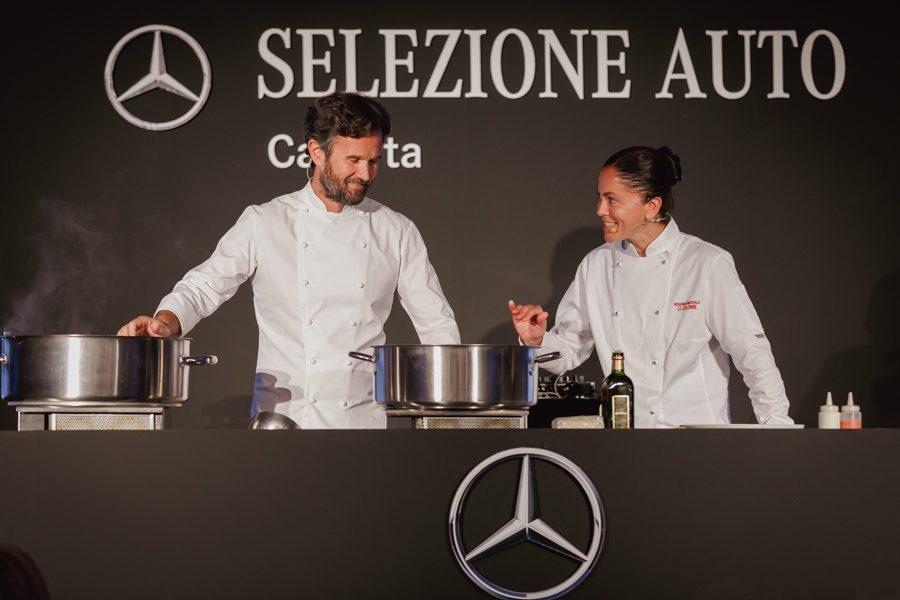 """""""Be Unique"""": alla Reggia di Caserta gli chef Carlo Cracco e Rosanna Marziale per Selezione Auto"""