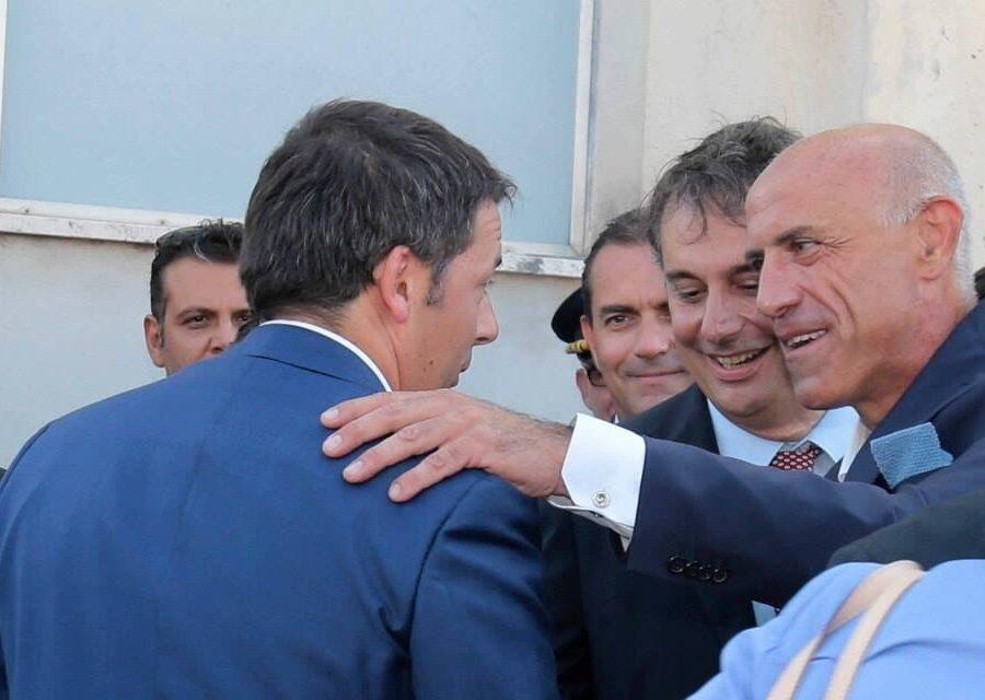 Il Premier Matteo Renzi in visita a K4A. Napoli, 14 agosto 2014